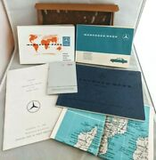 1964 Mercedes-benz 230sl Catalog Service Booklet Stations Directory Map