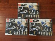 Lego Star Wars 501st Legion Clone Troopers 75280 New Sealed Lot Of 3 - Fast Ship
