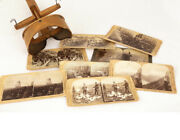 Antique Stereo Viewer With Historical Image Cards