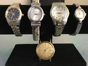 Vintage Lot Of 5 Waltham Wrist Watches