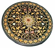 Black Marble Dining Table Top Marquetry Art Kitchen Table With Unique Design