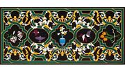 24 X 60 Inches Marble Dinning Table Top Marquetry Art Restaurant Table For Home