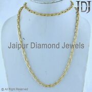 15 Ct Pave Diamond Link Chain Necklace 35 925 Silver Yellow Gold Plated Jewelry