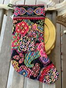 New With Tags Vera Bradley Symphony In Hue Christmas Stocking