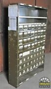 Super Industrial Piece Army Green 64-drawer Steel Parts Bin Cabinet 6 Ft Tall