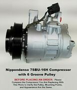 Cadillac Dts Buick Lucerne 4.6l Denso 7sbu16h Ac Compressor With 6 Groove Pulley