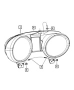 Genuine Mopar Instrument Cluster Cover And Lens 68311028aa