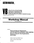 Early Aston Martin V8 Workshop Manual And Parts Manual And Electrical Diagrams