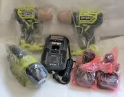 Ryobi One+ Brushless Drill And Impact And 2 Batteries 18v And Charger And Led Flashlight