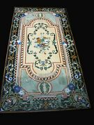 30 X 60 Inches Marble Meeting Table Top Stone Dinning Table With Vintage Crafts