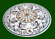 Vintage Crafts Marble Dining Table Top Heritage Art Conference Table Inlay Work