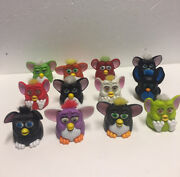 Vintage Furby Mcdonalds Happy Meal Toys 1998 With Burger King 2005 Lot Of 12
