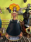 Cazadores Tequila Day Of The Dead Life Size Female Store Display