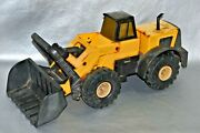 Metal Tonka Trax Tractor Yellow Kids Toy Trolley Buildozer Large Version Vintage