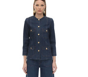Cotton Denim Jacket-with Tags- Rrp3800 Aud