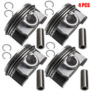 4x Pistons And Rings For 07-2011 Audi A3 A5 Q5 Volkswagen 2.0l Assembly Andphi21mm New