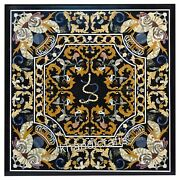 Marble Dining Table With Intricate Work Lawn Table Mosaic Art From Handicarfts