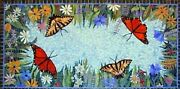 30 X 60 Inches Marble Restaurant Table Butterfly Design Dinning Table Royal Art