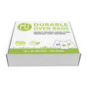 Oven Bags 100 Pack For Turkey Herb Garden Smell Proof 0.8mil All-purpose -18x20