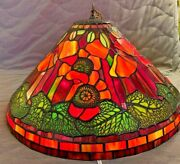 Gorgeous -style Pendant Lamp Leaded Stained Glass Antique
