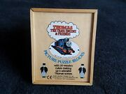Thomas The Tank Engine Wooden Vintage Cubes Jigsaw Puzzle + Guides 1983 Complete