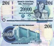 Paraguay 20,000 Guaranies Banknote World Paper Money Unc Currency Pick P230 2007