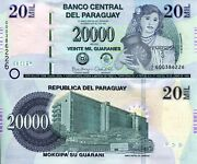 Paraguay 20,000 Guaranies Banknote World Paper Money Unc Currency Pick P238 2017