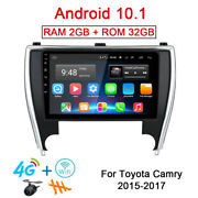 32gb Android 10.1 Radio Gps Navi 4g Steroe Car Dvd Player For Toyota Camry 15-17