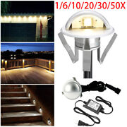 1-50pcs 35mm Outdoor Wall Plinth Led Yard Stair Step Deck Light Recessed Lamp