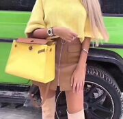 Hermes Herbag Soufre Yellow Canvas Toile Vache Hunter Herbag Zip 31 Pm Bag