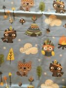 Woodland Creatures Jo - Ann Fabric Flannel Teepee/ Fox/ Owl New 43in.