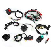 Wiring Harness Solenoid Coil Rectifier Cdi Kit For 50cc 70cc 110cc 125cc Atv Ad