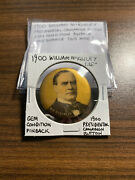 1900 William Mckinley Presidential Campaign Button Pin Pinback 1.25 Inch Nice