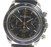 Bell&ross Vintage Brv2-94 Chronograph Navy Dial Automatic Menand039s Watch_563196