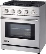 Lycan Gas Range Cook Top Stainless Steel Stove 4 Burners 4.55 Cu/ft Kitchen Oven