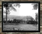 Spectacular... Antique Steam Tractor And Thresher... 8 X10 - Photo Print