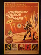 Robinson Crusoe On Mars 1964 Drive-in Movie Poster 40 X 60 Inches