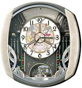 Seiko Wall Clock Fw563a Mickey And Friends Disney Time Light Pink Marble Pattern