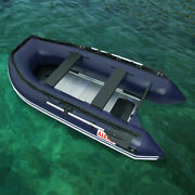 Aleko Inflatable Fishing Boat With Aluminum Floor 6 Prs 12.5 Ft Blue