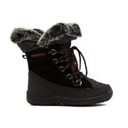Bearpaw Whitney Leather Waterproof Laced Boots With Neverwet Black Size 7 M Nib
