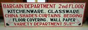 Huge Dept Store Sign – 72 X 23 – Handmade Wood - Great Graphics Pick Up Only