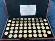 1999- 2009andnbsp P Mintandnbsp State And Territory Quarters Setandnbsp Andnbsp24 Kt Gold Plated 56 Coins