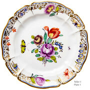 Cake Plate Cumberland Nymphenburg Rococo Model L / 12 1. Choice After 1960 6 1/
