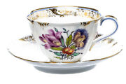 Coffee Porcelain Cumberland Nymphenburg Rococo Model L / 12 1. Choice After 1960