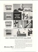 1958 Vintage Ad Remington Electric Standard Statesman Noiseless Office Typing