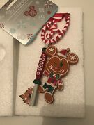 Disney Mickey Mouse Gingerbread Opening Ceremony Key Ornament 2020 Sold Out