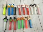 Lot - 17 Holiday Pez Dispensers Halloween Ghost Witch Christmas Easter Santa Vtg