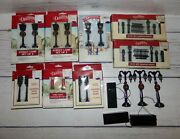 Lot Dickensville Christmas Holiday Village Accessories Street Lights Lamps