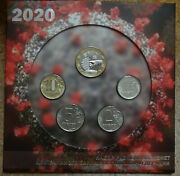 Booklet + Annual Coin Set Of 4 Coins 12510 Rubles 2020 Mmd + Token Unc