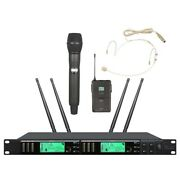Uhf Wireless Microphone System Professional Headset True Diversity For Shure Mic